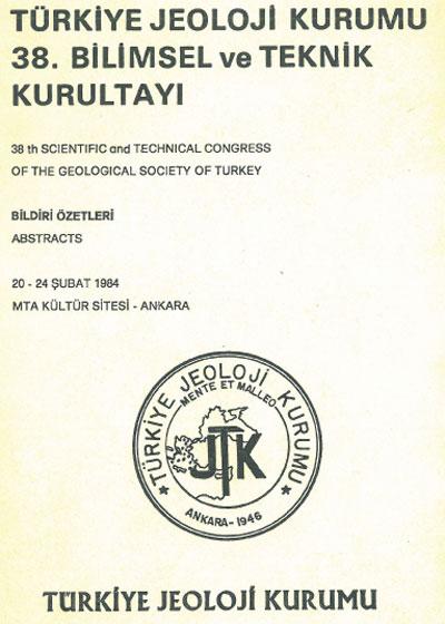 38.türkiye Jeoloji Kurultayý