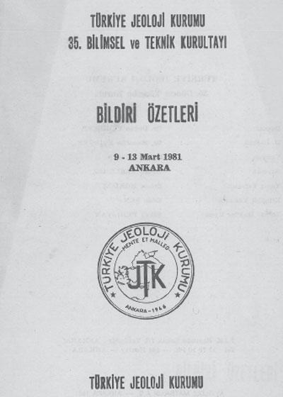 35.türkiye Jeoloji Kurultayý