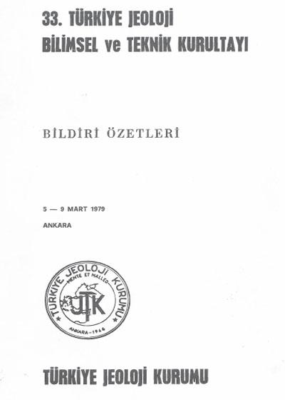 33.türkiye Jeoloji Kurultayý