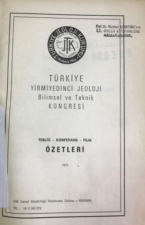 27.türkiye Jeoloji Kurultayý
